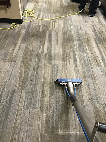 Carpet vacuuming on commercial carpet
